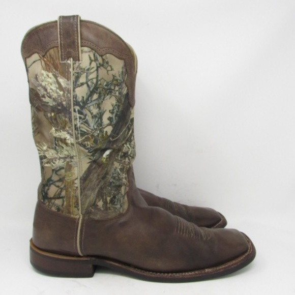 551ce10440b 🇺🇸 Justin camouflage cowboy boots mens size 14B